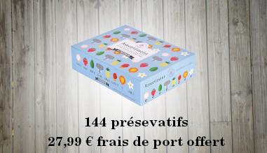 144 préservatifs: 27,99€ | Livraison offerte